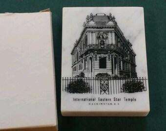 International Eastern Star Temple Centennial Paperweight