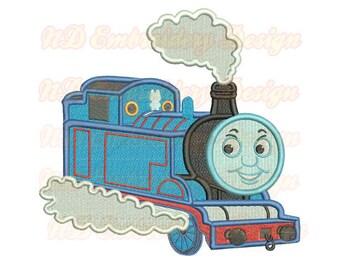 Thomas Train  Filled Stitch Embroidrey Design,  vl-010-fill