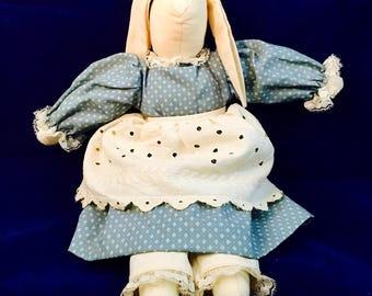 "Vintage Easter Bunny, Rabbit, Handmade, Amish, 12"""