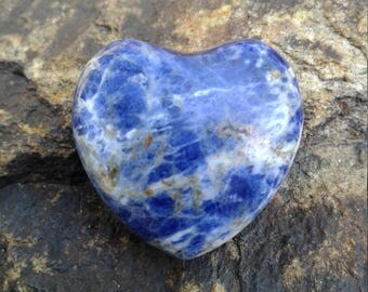 Sodalite Heart Focal Bead