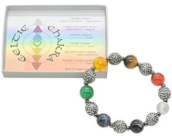 Chunky Celtic Chakra bracelet