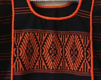 Mexican embroidered vintage huipil