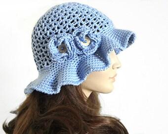 Crochet Hat Summer Hat Floral Hat Women Accessories Brim Hat Girls Summer Hat Beach Visor Hat Sun Hat Beach Accessories Weekend Photo Prop