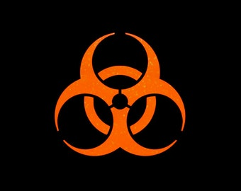 Bio Hazard Vinyl Decal in your choice of great glitter colors and sizes!  Add a little sparkle to your hazardous waste!