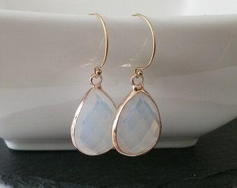 Opalit earrings gold filled ear wires
