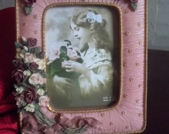 Floral Ceramic Picture Frame