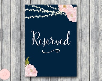 Reserved sign, Wedding Reserved seating sign, Reserved table sign, Wedding sign, Printable sign, Wedding decoration sign TH65