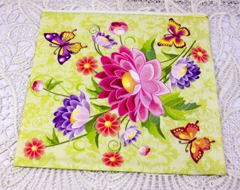 Decoupage napkin Paper napkin flower butterfly floral Decoupage napkins paper napkins scrapbooking paper craft decoupage