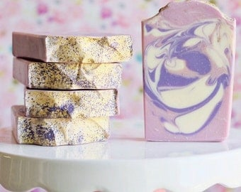 Luscious Lilac Handcrafted Goat Milk Soap with Kaolin Clay