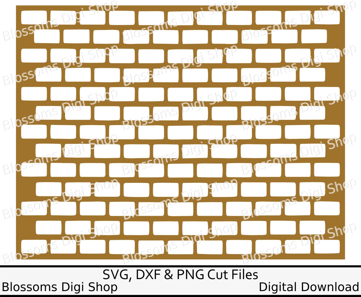 Instant Stencils For Walls : Brick wall svg instant download diy stencil repeat pattern