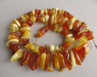 Sale 20% !  Antique amber beads, Natural amber, Yellow Amber, Brown amber, Baltic amber