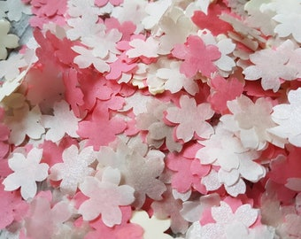 Pearlescent Champagne & Coral, Ivory Cherry flowers wedding throwing confetti!Table Decoration.Romantic  spring summer.ECO,2-20 handfuls