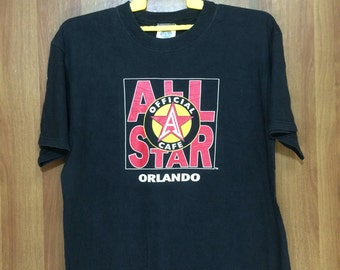 90s Vintage 1995 Official All Star Cafe Orlando T-shirt - Adult Medium Size
