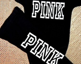 Victoria secret pink outfit, baby pink outfit, pink victoria secret leggings,victoria secret outfit, baby vic secret, baby pink outfit, pink