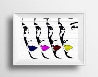 Printable art, pop art print instant download