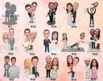 Custom wedding cake toppers based on your photos and ideas
