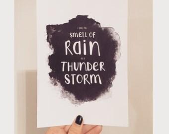 Thunderstorm A5 Print