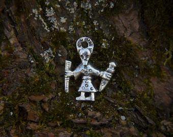 Odin Pendant. Viking Age. Island Birka. Sweden. Silver. Bronze