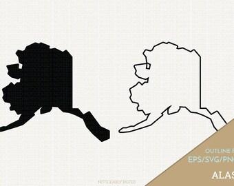 Alaska Vector, State Clipart, AK Clip Art, Alaska SVG, State PNG  (Design 13755)