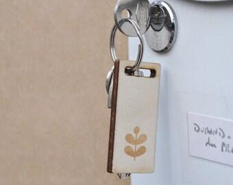 Porte-clés en bois Tilleul