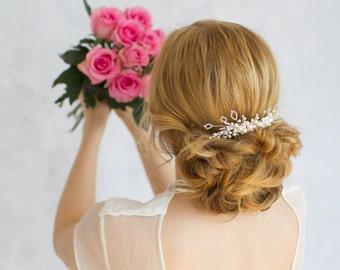Haarkamm - Swarovski Perlen Kopfschmuck Braut Haarschmuck Hochzeit