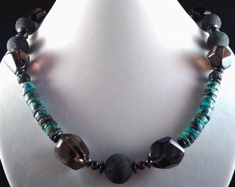 Necklace turquoise African