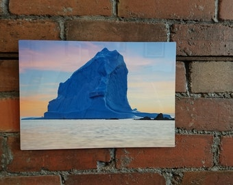 Metal Photo Print / Modern Wall Art / Iceberg