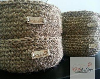 Handmade Crochet Jute Twine Bowl | Storage Bowl | Jute Basket