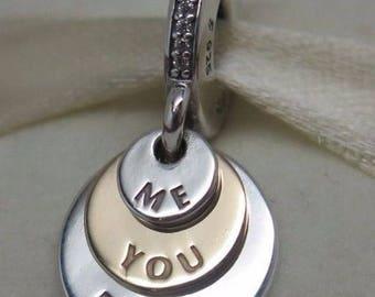 Genuine Pandora You Me Forever Sterling Silver 14 CARAT  CZ Charm Pandora Code 791979CZ