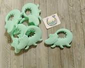 Crocodile teether pendant * baby teether pendant * baby shower gift * crocodile teether * cpsia compliant * chewelry