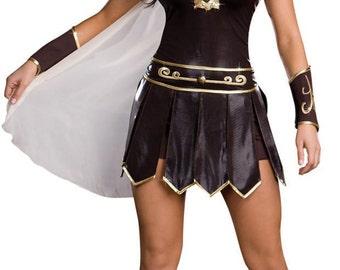 Ladies Gladiator Greek Warrior Princess Roman costume outfit size 4 6 8 10 12 14 16