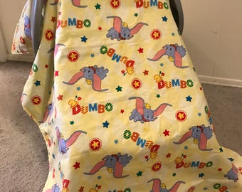 Dumbo Baby Car Seat Canopy