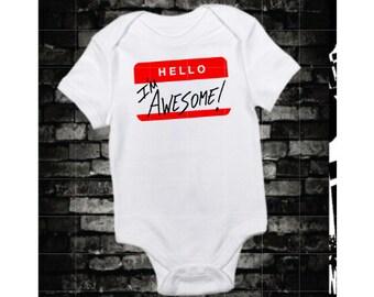 The Miz I'M Awesome Wrestling Baby Gift Bodysuit WWE WWF