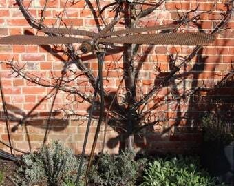 Reclaimed Metal Double Dragonfly Garden Sculpture