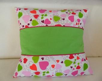 Pillows, pillow cases, heart, spring, 40 x 40 cm