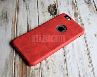 FREE SHIPPING - Red iPhone 6s Ultra Slim Leather Case