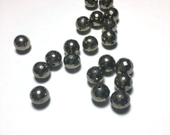 Pyrite Faceted Beads. Pyrite. Beads. Jewelry Making.