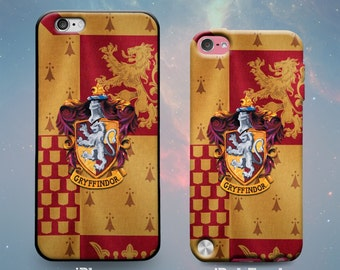 House Gryffindor Crest and Flag Harry Potter Rubber Case for iPhone 7 Plus iPhone 7 iPhone 6s 6 Plus iPhone 5s 5 5c iPhone SE iPod Touch