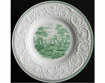 Wedgwood Green Torbay Patrician 10 5/8-inch Dinner Plate