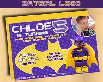Birthday Party Invitation - Batgirl - Personalised Invitation