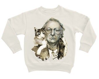 "Sweatshirt ""Joseph Brodsky with a Cat"""