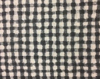 Gingham Kiyohara Canvas Fabric Japanese Import