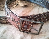 Post Apocalyptic/Steampunk Cosplay Weathered Granada Leather Belt