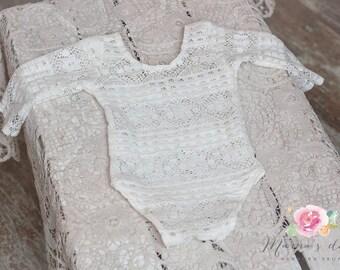 Newborn romper Lace