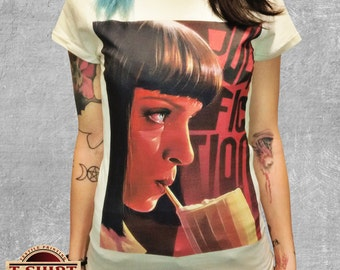 PULP FICTION Mia Wallace MilkShake T-Shirt