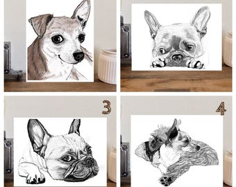 """Choose your pencil drawing print - 8""""x10"""" - Choose your style"""