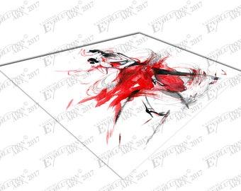 Print on Canvas Watercolor illustration the Tango Dancing Romance X1353