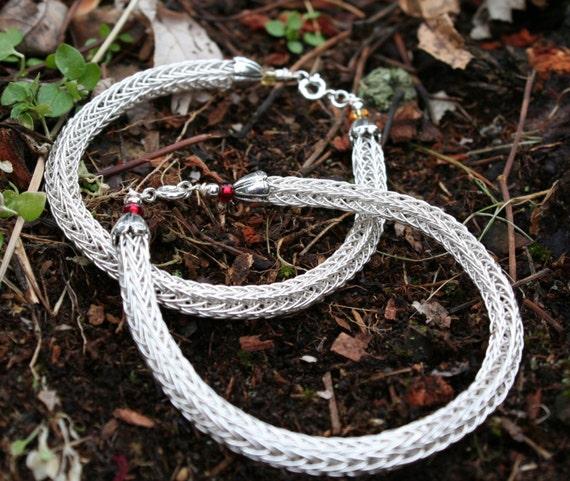 Sterling Silver Viking Knit Bracelet (5DK)