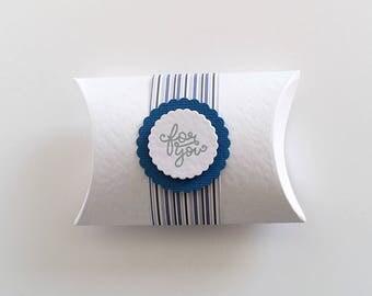 Wedding Favour Pillow Box, Party Favor, White Gift Box, Baby Shower, Bachelorette, Earring Gift Box, Table Gift, Christmas Gift Box