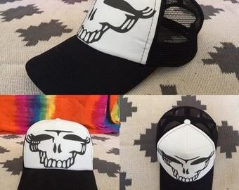 Grateful Dead Hat-Stealie Skeleton-Snapback Trucker Hat